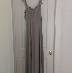 BHLDN Diana dress in light grey